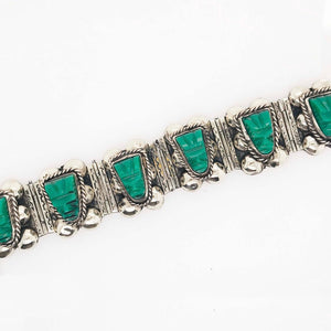 Green Chalcedony Mexican Sterling Silver Custom Bracelet