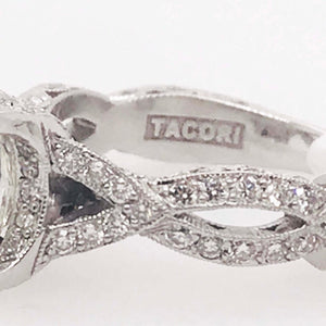 Tacori Royal T Platinum Collection with Certified 4.03 Carat Round Diamond