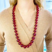 Cherry Baltic Amber Necklace, Tapered Authentic Amber Beads, Necklace