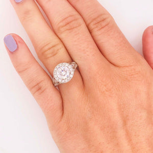 Vintage Diamond Ring with Halo