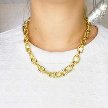 Large Textured Oval Link Chain Necklace
