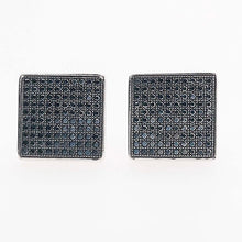 Black Square Cufflinks in Sterling Silver