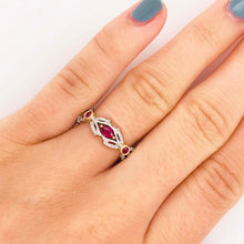 """Amour Rouge"" Ruby and Diamond Ring, Two-Tone Band"