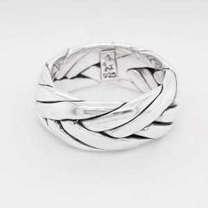 Men's Sterling Silver Braided Wedding Band