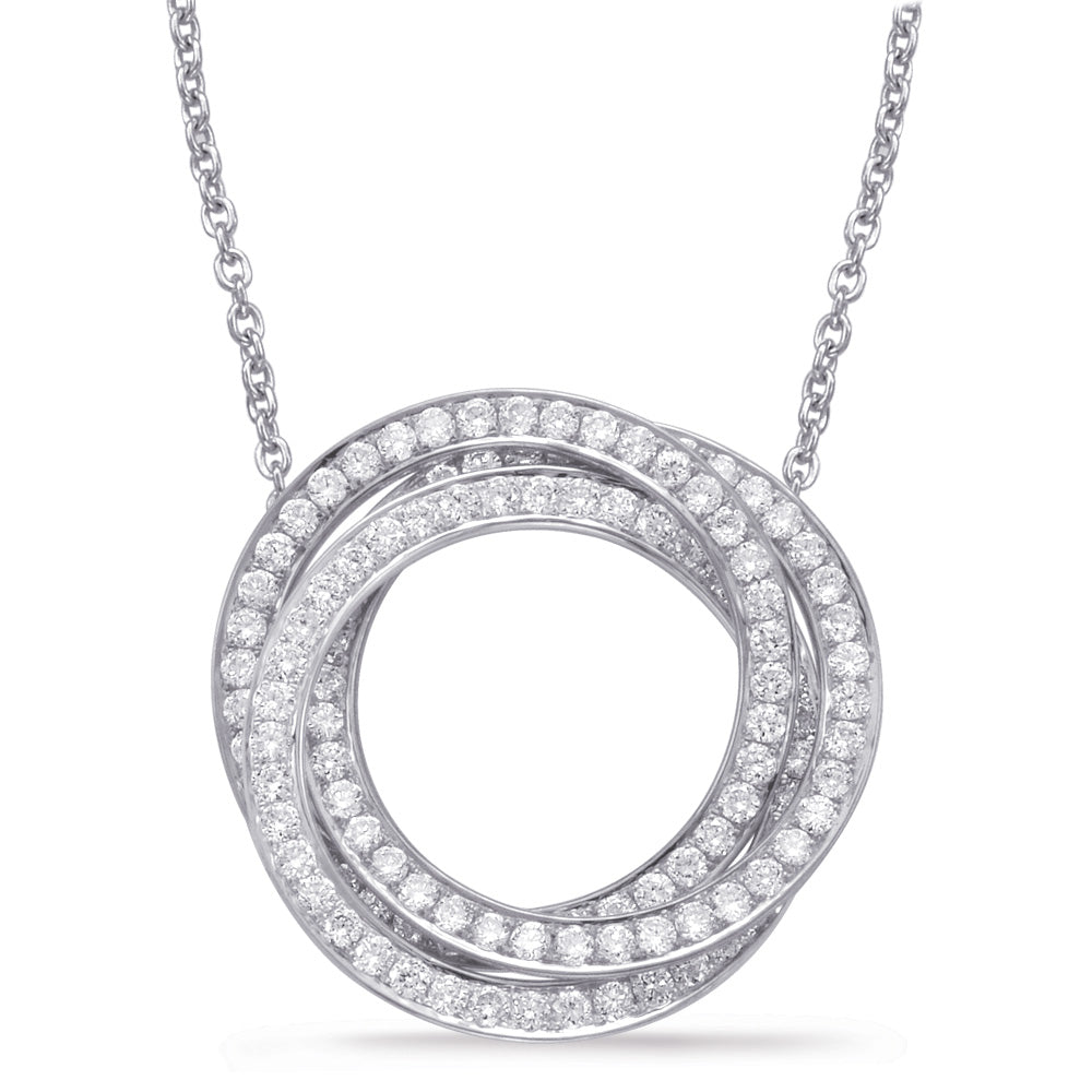 Diamond Circle Pendant Necklace in 14k Gold