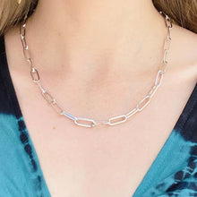 6.5mm Paperclip Necklace in Sterling Silver