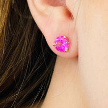3 Carat Red Ruby (Synthetic) Stud Earrings
