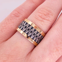 Custom Cigar Band - 14K Rose Gold & Sterling Silver