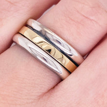 Two-Tone Spinner Band - 14K Gold & Sterling Silver