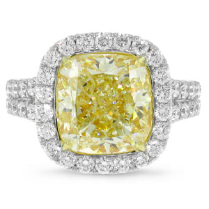 Fancy Yellow Diamond Ring in 18k Gold