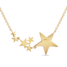 Diamond Star Necklace in 14k Gold
