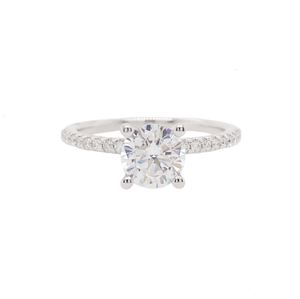 Diamond Band Engagement Ring, 2020 Most Popular Semi-Mounting, 14k