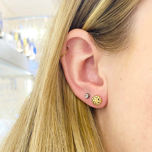 Gold Bead Cluster Stud Earrings