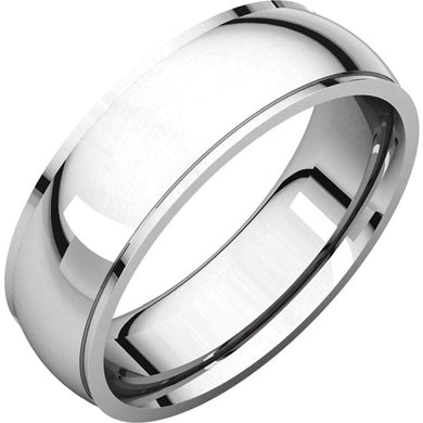 Classic Edge Men's Wedding Band (High Polish) in 14k Gold