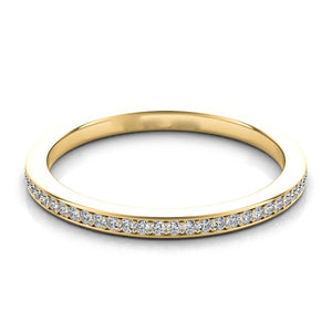 14k Gold with Channel Set Diamonds Band