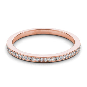 14k Rose Gold with Channel Set Diamonds Band