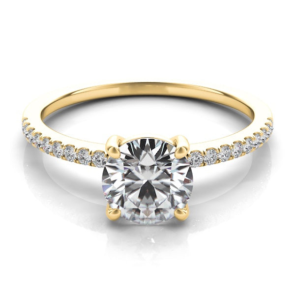 14k Gold Diamond Solitaire Setting
