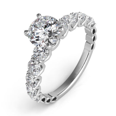 Diamond Engagement Ring in 14k Gold