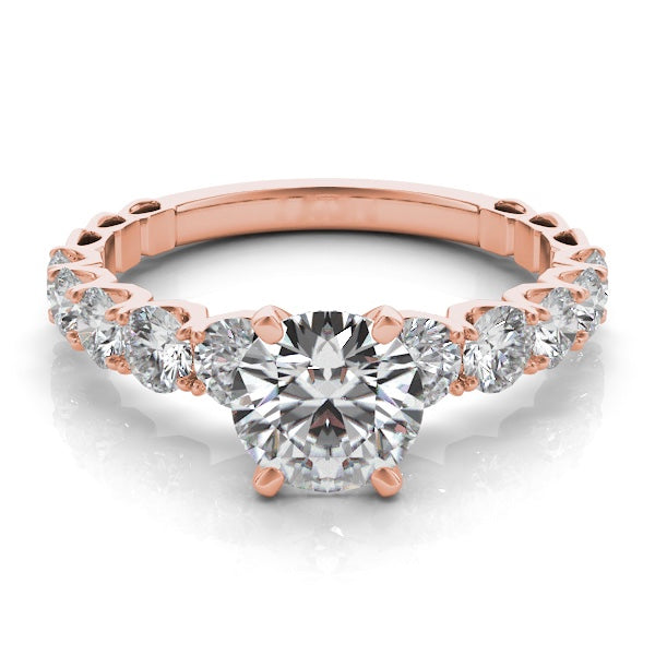 14k Rose Gold & Tapered Diamond Band Setting