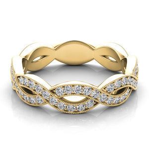 Infinity Eternity Diamond Band in 14k