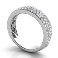 Pave Diamond Anniversary Band in 14k Gold
