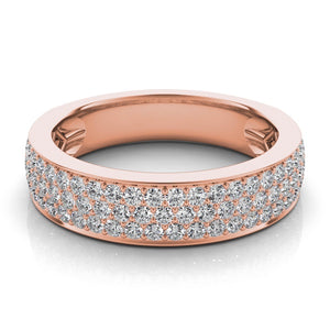 14k Rose Gold Diamond Pave Band