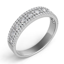 14k White Gold & Diamond Wedding Band