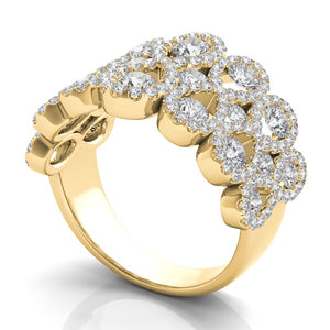14k Gold Diamond Infinities Wide Band
