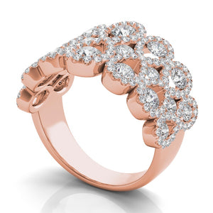 Diamond Infinity Fashion Ring in 14k Gold