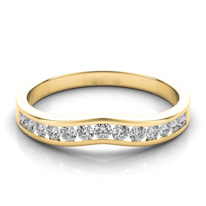 14k Gold & Diamond Wedding Shadow Band