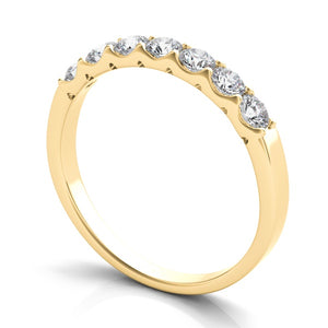 7 Diamond Band in 14k Gold