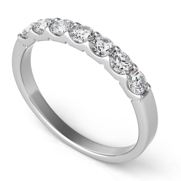 7 Diamond Band in Platinum
