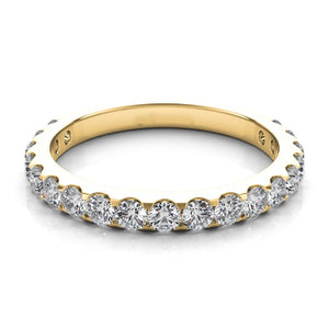 14k Gold & Diamond Tapered Wedding Band