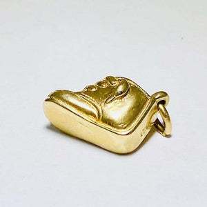 James Avery Charm Solid Gold Rare Baby Bootie in 14 Karat Yellow Gold