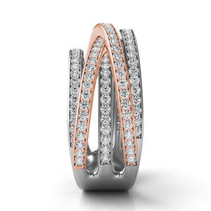 Two Tone Diamond Fashion Ring in 14k