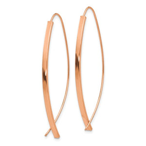 14k Rose Gold High Polished Wire Earrings
