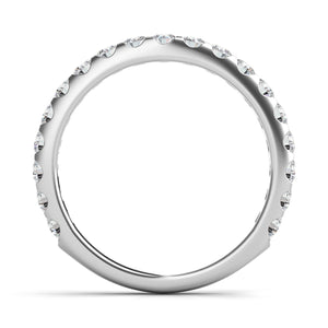 Platinum & Diamond Tapered Wedding Band