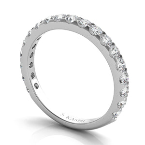 3/4 Diamond Wedding Band in Platinum