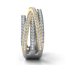 14k Gold & White Gold with Diamonds Multi Wrap Ring
