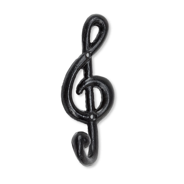 TREBLE CLEF WALL HOOK