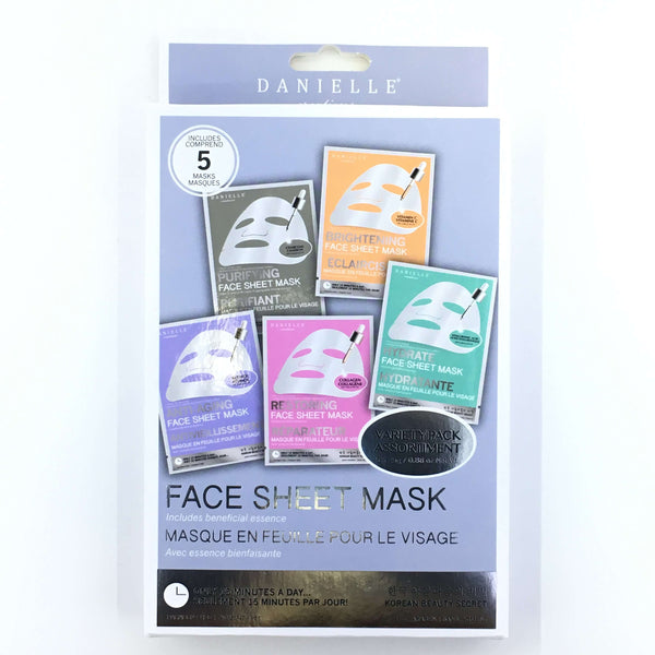 DANIELLE FACE SHEET MASK VARIETY PACK, HEALTH AND BEAUTY, Styles For Home Garden & Living, Styles For Home Garden & Living
