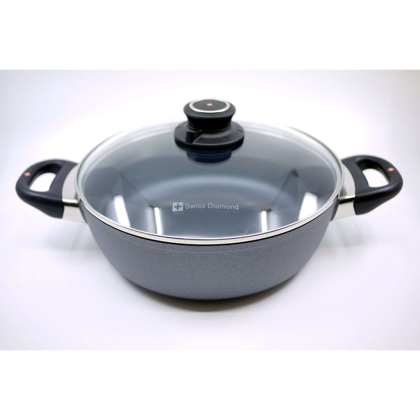 SWISS DIAMOND 3 L ROUND CASSEROLE WITH GLASS COVER, KITCHEN, Styles For Home Garden & Living, Styles For Home Garden & Living