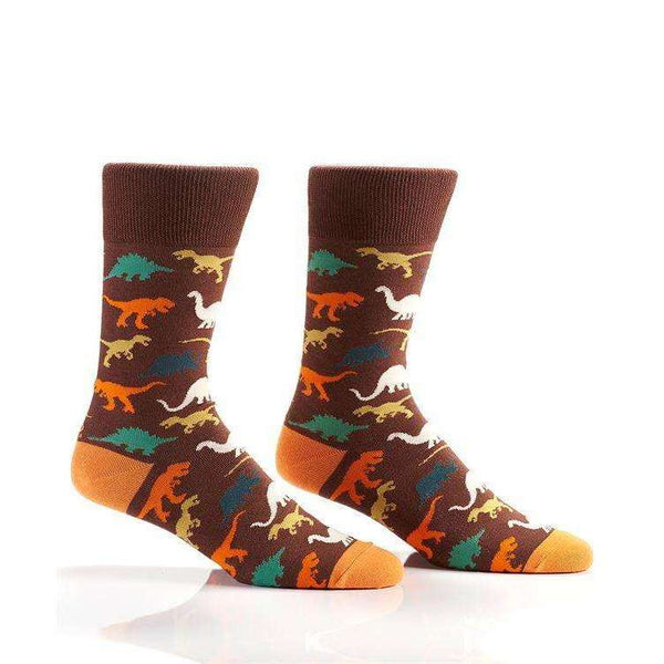 YO SOX T-REX, MEN'S CREW SOCK, DINOSAURS, NOVELTY, Styles For Home Garden & Living, Styles For Home Garden and Living