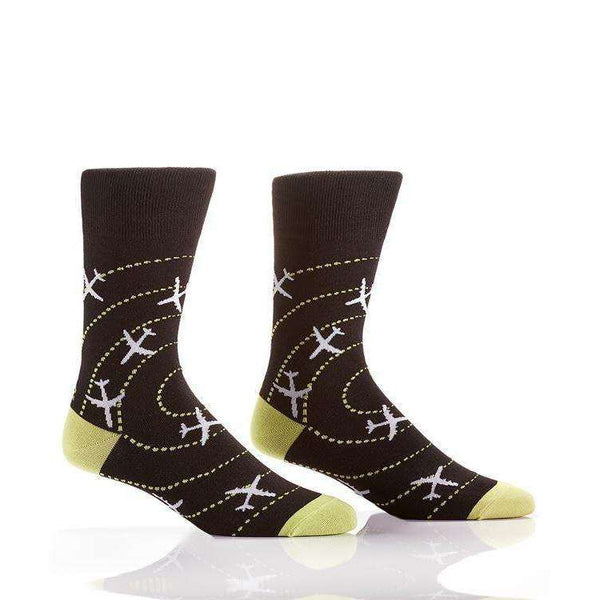 YO SOX AIRPLANES MEN'S CREW SOCKS