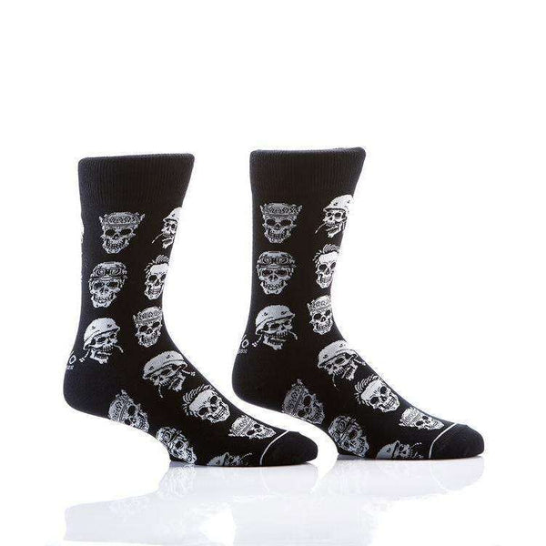 YO SOX SKULLS MEN'S CREW SOCKS, NOVELTY, Styles For Home Garden & Living, Styles For Home Garden and Living