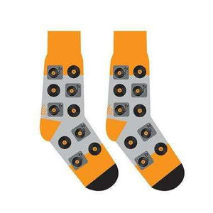 YO SOX TURNTABLE RECORDS MEN'S CREW SOCKS, NOVELTY, Styles For Home Garden & Living, Styles For Home Garden & Living