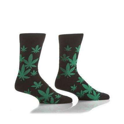YO SOX MARIJUANNA POT LEAF MEN'S CREW SOCKS, NOVELTY, Styles For Home Garden & Living, Styles For Home Garden & Living
