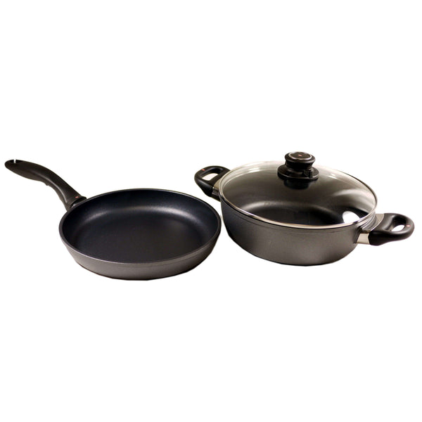 SWISS DIAMOND SET 3L CASSEROLE AND FRYING PAN WTIH LID 3 PIECE SET, KITCHEN, Styles For Home Garden & Living, Styles For Home Garden & Living