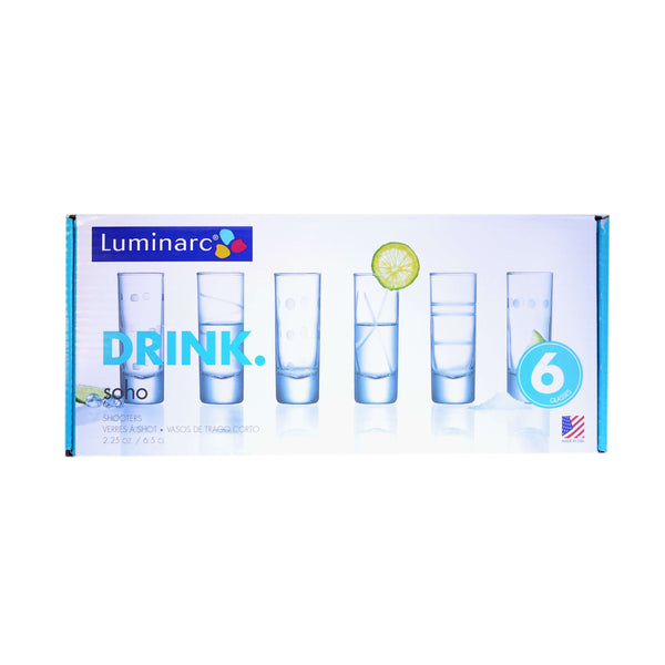 LUMINARC SHOT GLASSES 6 PIECE SET, KITCHEN, Styles For Home Garden & Living, Styles For Home Garden & Living