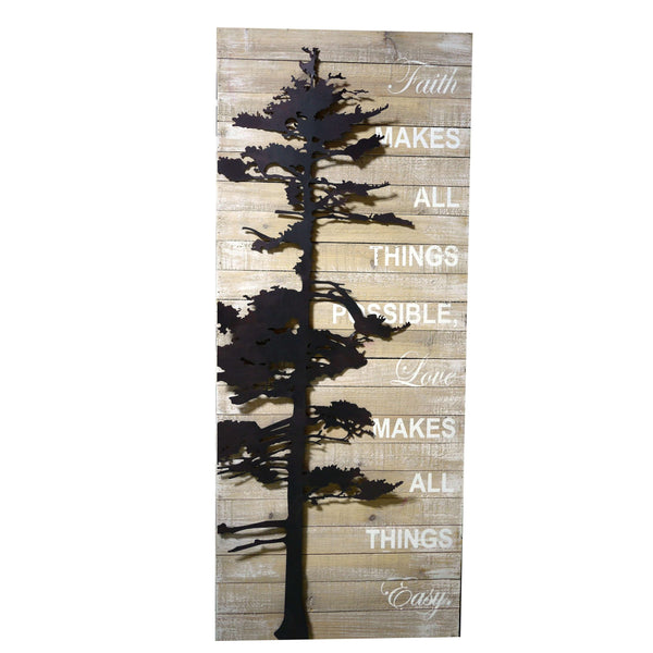 FAITH MAKES ALL THINGS POSSIBLE RECLAIMED WOOD SIGN, HOME AND GARDEN DECOR, Styles For Home Garden & Living, Styles For Home Garden and Living